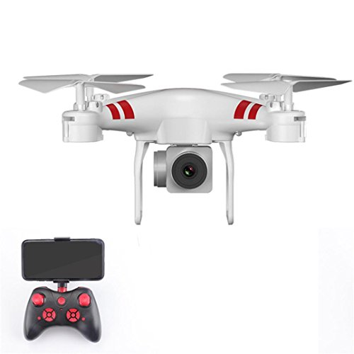 Cinhent Quadcopter Wide Angle Lens 1080P HD Camera 4 Channels RC Drone WiFi FPV 1800Mah Intelligent Battery, Long Control Range, Gifts For Adults Kids Beginner (White) by Cinhent Quadcopter