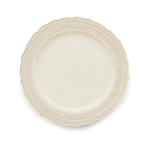 Arte Italica Finezza Dinner Plate, Cream