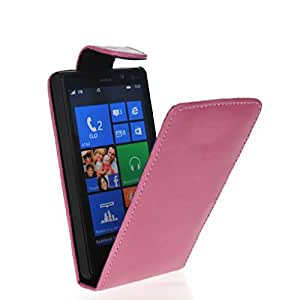 HKCFCASE Funda de cuero Carcasa Tapa Case Cover Para Nokia Lumia 820 Rosa
