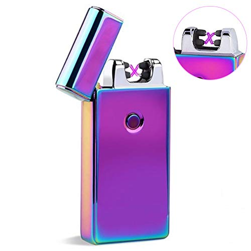 USB Lighter Rechargeable Plasma Lighter Flameless Windproof Pulse X Beam Dual Arc Lighter (Magic)