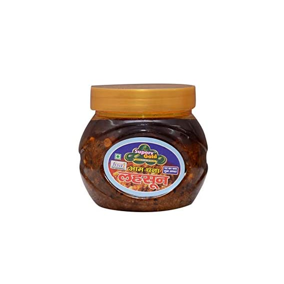 Superv Gold Home Made Pickle 400gm (Aam Channa Lahsun)