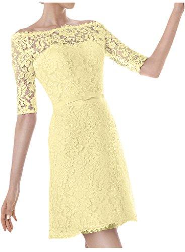 Hochzeitskleid Nazisse Brautkleid Aermel U Ausschnitt Halb Kurz Ivydressing Abendkleid Damen pzwq80A