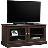 Sauder 418255 TV Stand, Cinnamon Cherry Finish, Holds up to a 42 TV weighing 70 lbs. or less.