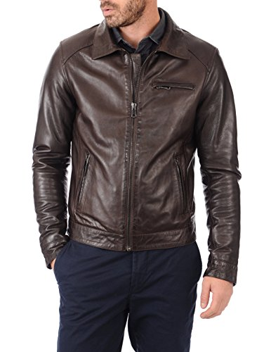 KYZER KRAFT Mens Leather Jacket Bomber Motorcycle Biker Real Lambskin Leather Jacket for Mens