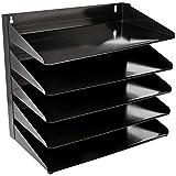 AmazonBasics 5 Tier Metal Office Document Organizer Tray, 15' x 9' x 13'