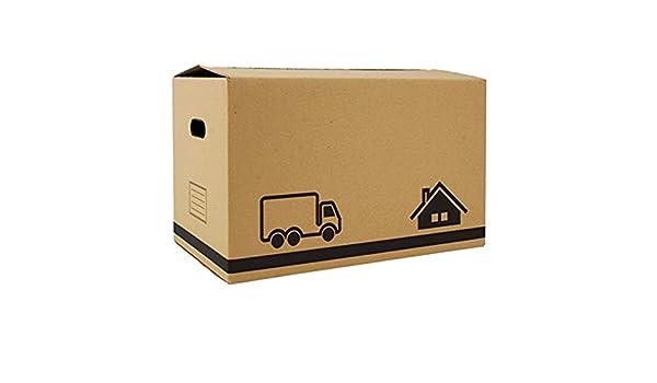 Confortime Caja Multiusos - Caja Mudanzas - Caja de cartón - Pack de 20 cajas - 40x25x20 cm - Con asas: Amazon.es: Oficina y papelería