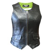 Missing Link Women's D.O.C. Reversible Vest (Black/HiViz Green, Large)