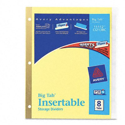 AVERY-DENNISON 11112 WorkSaver Big Tab Reinforced Dividers W