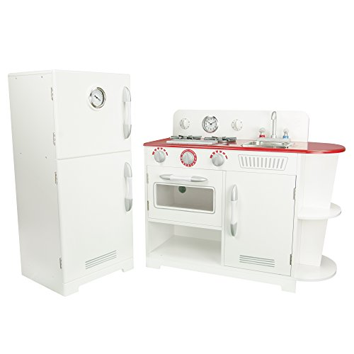 Teamson Kids - Classic Play Kitchen - White (2 Pieces) by Teamson Kids