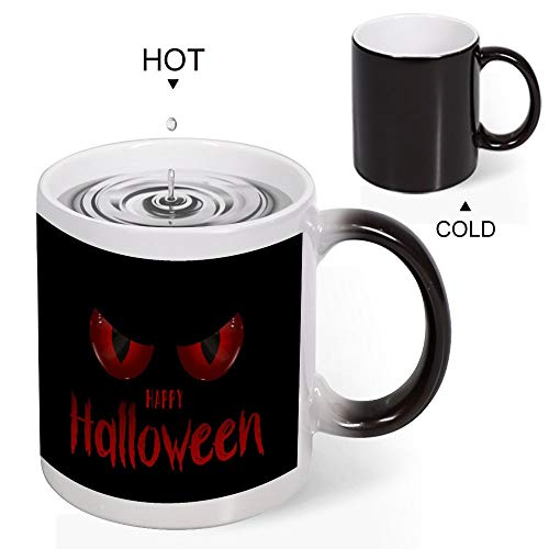 Cfgi Happy Halloween Ceramic Heat Sensitive Color Changing Coffee Mug Tea Cup Funny gift 11 Ounce