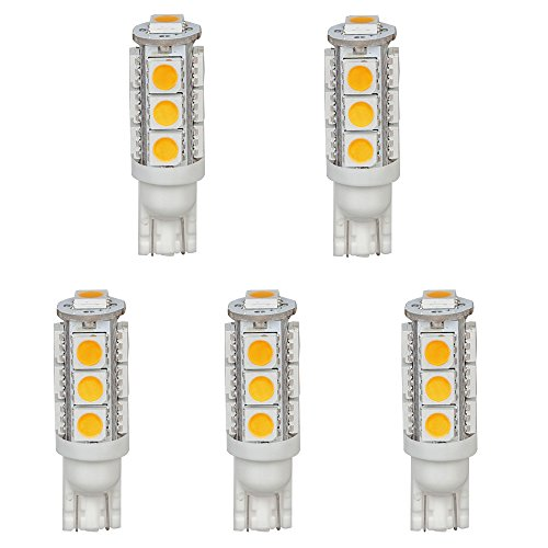 hero-led-t10wg13t-ww-12v-dc-t10-wedge-194-921-168-ultra-bright-13-led-5050-smd-led-bulb-5-pack-warm-