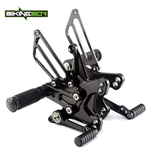 Frames & Fittings Adjustable CNC Billet Rider Rear Sets Foot Pegs Footrests Rearsets for Kawasaki ZX10R ZX10 R 2011 2012 2013 2014 2015 11-15 - (CN, Color: Black) ()