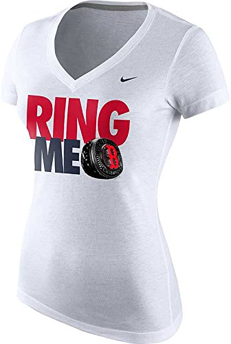 Nike Women's Boston Red Sox Ring Me MLB World Series Champions Vneck T-Shirt
