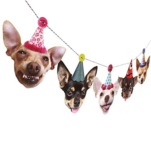 Chihuahua Birthday Garland, dog party decoration banner