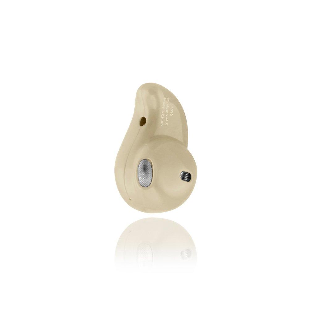 Gearonic AV10249-Beige-Ear Mini Wireless Bluetooth 4.0 Stereo in-Ear Headset Earphone Earbud Earpiece - Beige by Gearonic
