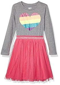 Amazon Brand - Spotted Zebra Girl's Toddler & Kids Long-Sleeve Sparkle Tutu Dresses