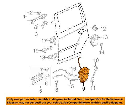 Genuine Honda 72650-SZA-A02 Left Rear Door Power Latch Assembly