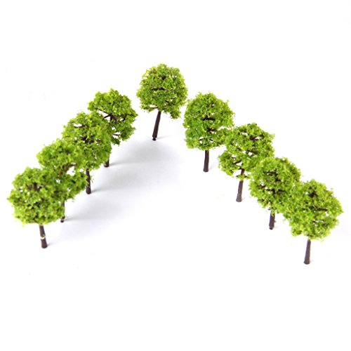 Fenteer 40pcs Woodland Scenics Trees Model Forest Making Accessories N Scale 1 250 Train Railway Railroad Scenery Diorama or Layout