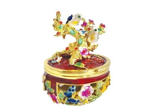 Purse Lamp Genie ([NEW] Jewelry Trinket Box Figurine Case Vintage Collectible for Keepsake Art Decor Holder Pill Organizer- Magnet Secured Storage, Jeweled w/ Crystals (Engraved & Detailed Cases) (Tree &)