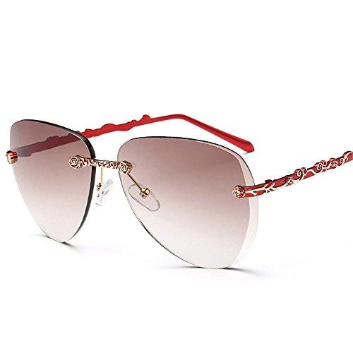Chahua Lunettes de soleil à la mode et élégant sans cadre de mode élégant femmes lunettes de soleil Lunettes de soleil