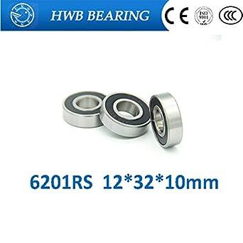 10 6201-2RS 12mm Outer Diameter 32mm Metric Bearings