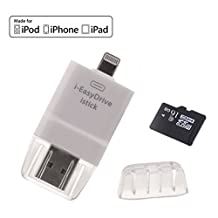 iPad Mac i Flash Drive Adapter External Storage 16GB Memory Expansion USB Stick with Dual Speed Connector for iOS iPhone 7 iPhone 7 Plus iPhone 6/6s iPhone 5/5s