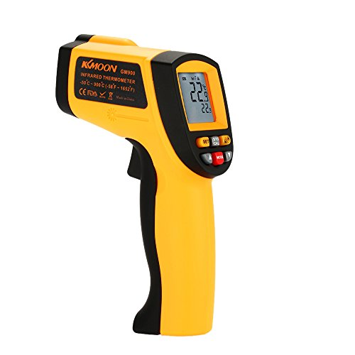 KKMOON Berührungsloses IR Thermometer Minus 50℃ Bis 900℃ (Alarm MAX/MIN/AVG/DIF Anzeige)
