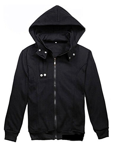 (Ainiel Anime Cosplay Costume Hoodie Casual Sport Clothing Jacket(Black,XXL))