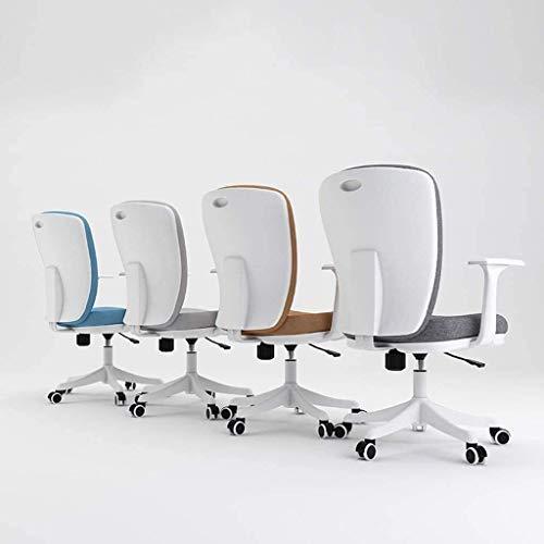 XBSXP kontorsstol, dator skrivbordsstol ergonomisk 3D tjock dyna tyg fritid svängbar stol (färg: BRUN)