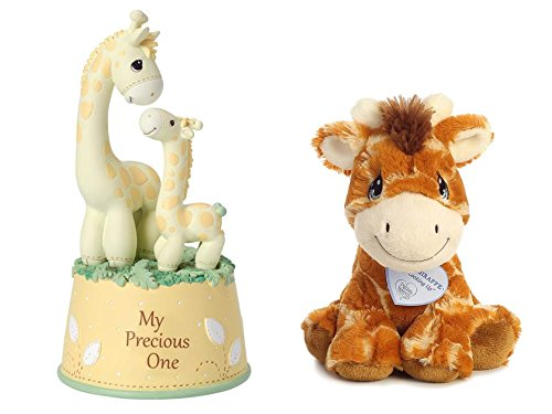 Precious Moments My Precious One Musical Figurine With Raffie Giraffe 8.5-Inch Plush Baby Gift Set