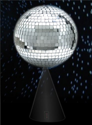 """8"""" DISCO MIRROR BALL WITH CONICAL STAND"""