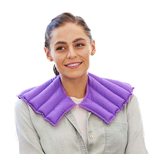 My Heating Pad – Neck and Shoulder Wrap for Stress, Tension, Migraine Relief - Microwavable and Reusable – Hot Therapy Pack (Purple) (Pain Back Heating Pad)