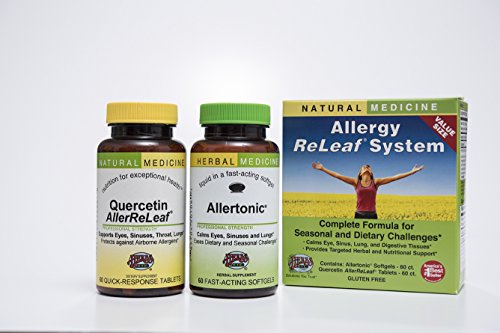 Mast Systems (Allergy ReLeaf System - 2 Bottles (Allertonic & Quercetin) Herbs Etc 60+60 Softgel)