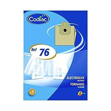 Codiac - 5 bolsas aspirador en papel - ref: 76: Amazon.es: Hogar