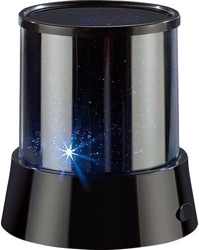 Lunartec Sternenprojektor LED Mobiler Mini-Sterne-Projektor mit 3 Leuchtprogrammen Projektor Sternenhimmel