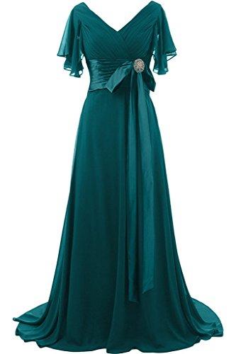 V Kurz Blaugruen Liebling Steine Ivydressing Abendkleid Festkleid Lang Aermel Damen Mit Promkleid Ausschnitt Schleife OOIqE