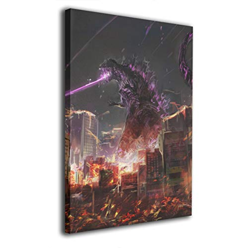 Little Monster Godzilla Stretched Printed On Canvas Home Decorations Abstract Paintings Art for Boys and Girls Bedroom -