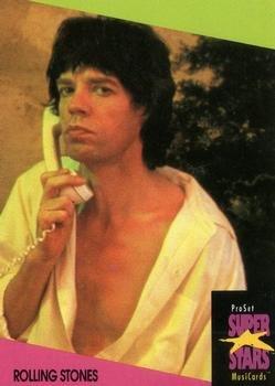 Rolling Stones trading card (British Rock Band) 1991 Proset Super Stars Musicards UK #116 Mick - Mick Band Jagger