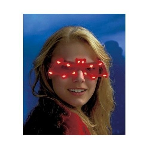 NEW Lighted Halloween Glasses Colorful Bat Blinking LED Eye Gear Party, (Blinking Led Eyes Halloween)