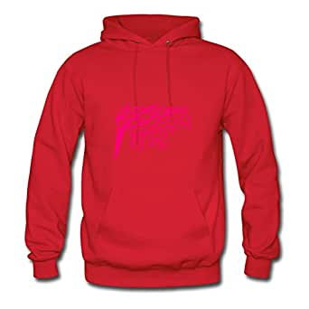 Creative Tree Branch Design Single Color Red Women Organic Cotton Hoody Fitted Funny X-large