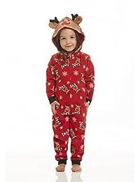 Jammin' Jammies Matching Family Reindeer Unisex Toddler Blanketsleeper Pajama