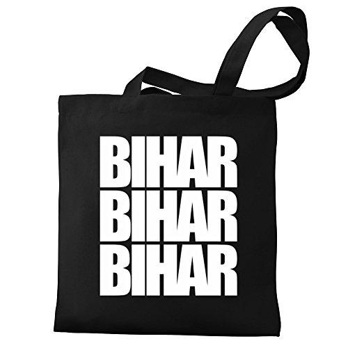 Canvas Eddany three Bihar Eddany words Bihar Bag Tote UXqwUOv