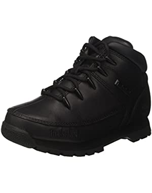 Kids Euro Sprint - Black Smooth (Leather) Childrens Boots