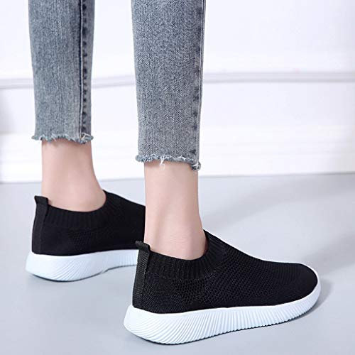 TIFENNY Fashion Lazy Shoe Mens Slip On Canvas Sports Loafers Casual Sneakers Summer Breathable Solid Color Flat Shoes