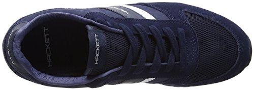 Hackett London Pembrook, Zapatillas de Entrenamiento para Hombre Varios Colores (Navy/white)