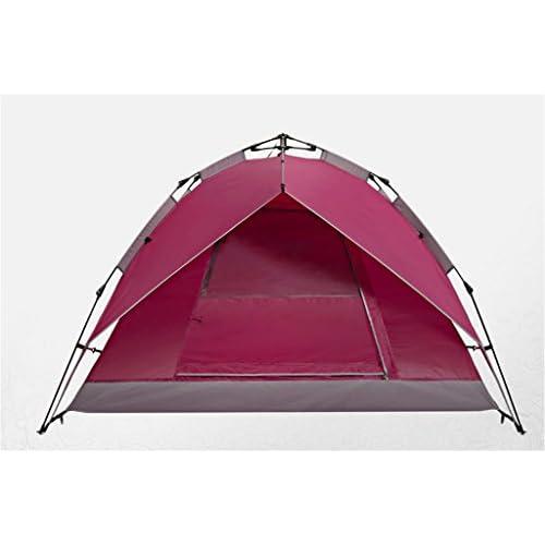 Tentes Extérieures Tente Automatique 3-4 Personnes Double Couche Shade Windproof Tentes Imperméables (220cm * 200cm * 130cm)