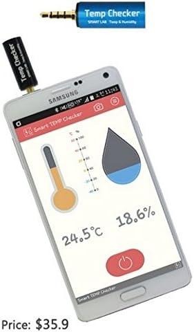 Smart TEMP Checker Termómetro Higrómetro Medidor de Temperatura Humedad con Smartphone Android iOS y App: Amazon.es: Electrónica