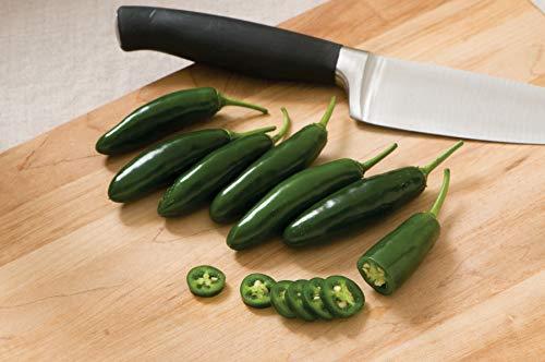 Pepper Hot Hybrid (David's Garden Seeds Pepper Serrano Hot Rod SL9322 (Green) 25 Hybrid Seeds)