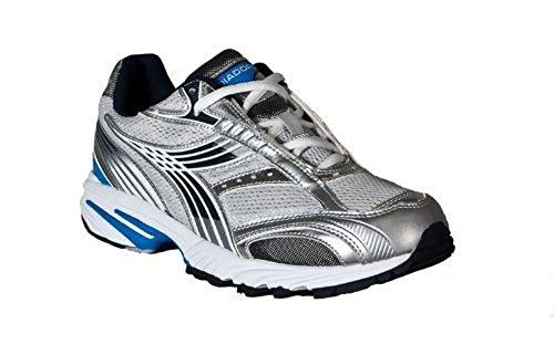 Diadora - Zapatillas de running de sintético para hombre Plata Silver, Blue
