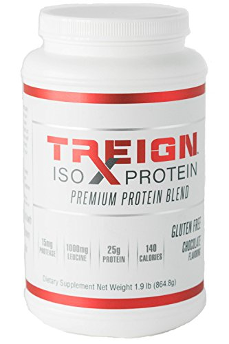 TREIGN ISO Low Carb Protein Powder, Whey + Casein Protein Blend for Men & Women. Gluten-Free Protein and Soy Free. Keto Friendly. Post Workout or Meal Replacement, Made in USA